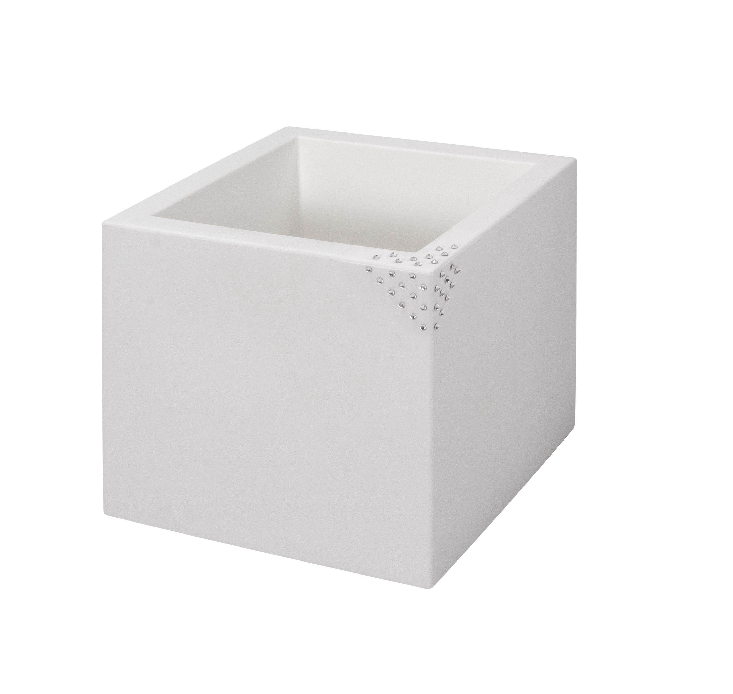 blumentopf pflanztopf nicoli modus quadro mit original swarovski kristallen motiv pyramid. Black Bedroom Furniture Sets. Home Design Ideas