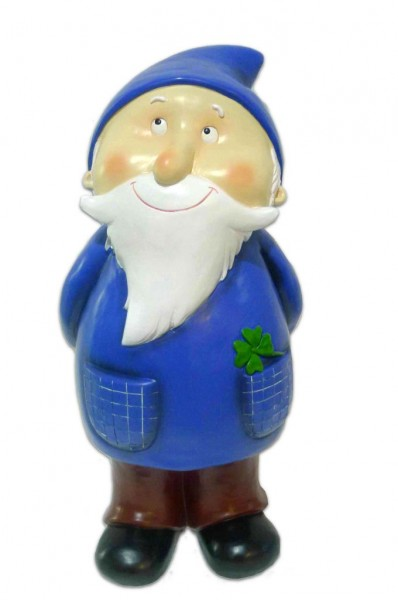 "Gartenzwerg ""Rudi"", blau, aus hochwertigem Polyresin"
