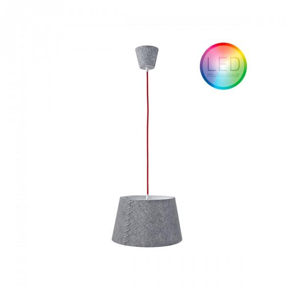 """Moree LED Hängelampe / Hängeleuchte """"Alice 30"""", aus Filz (PE), Ø 30 cm x H 18 cm, 240 V, Multicolor LED-Leuchtmittel, max. 25 W, für den Innenbereich"""