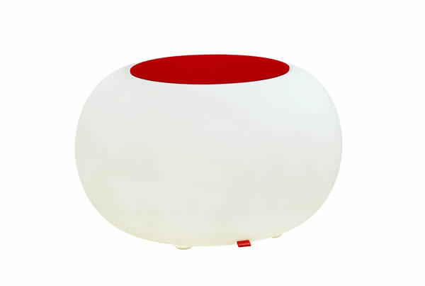 moree bubble akku led beleuchteter sitzhocker mit rotem. Black Bedroom Furniture Sets. Home Design Ideas