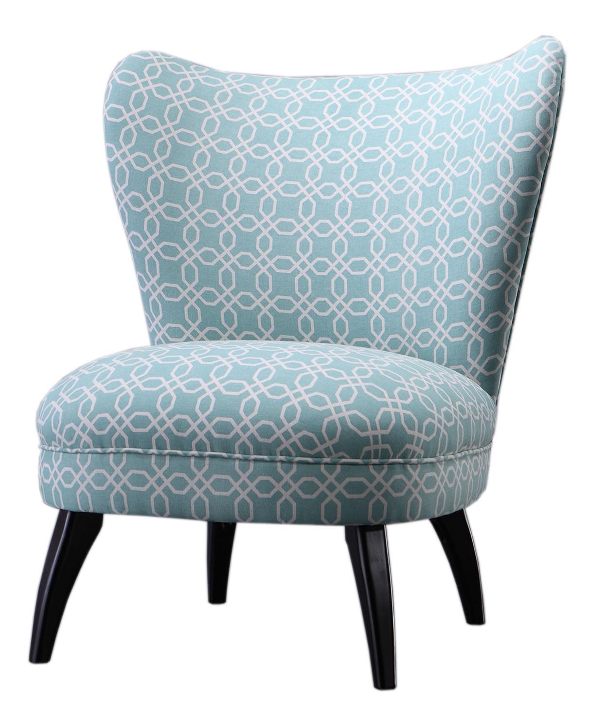 Sessel gemustert  Cocktailsessel, Bezug aus Stoff, hellblau gemustert, B79 x T82 x ...