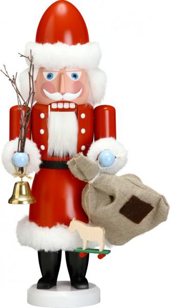 """Nussknacker """"Weihnachtsmann"""", aus Holz, rot, Höhe 38 cm"""