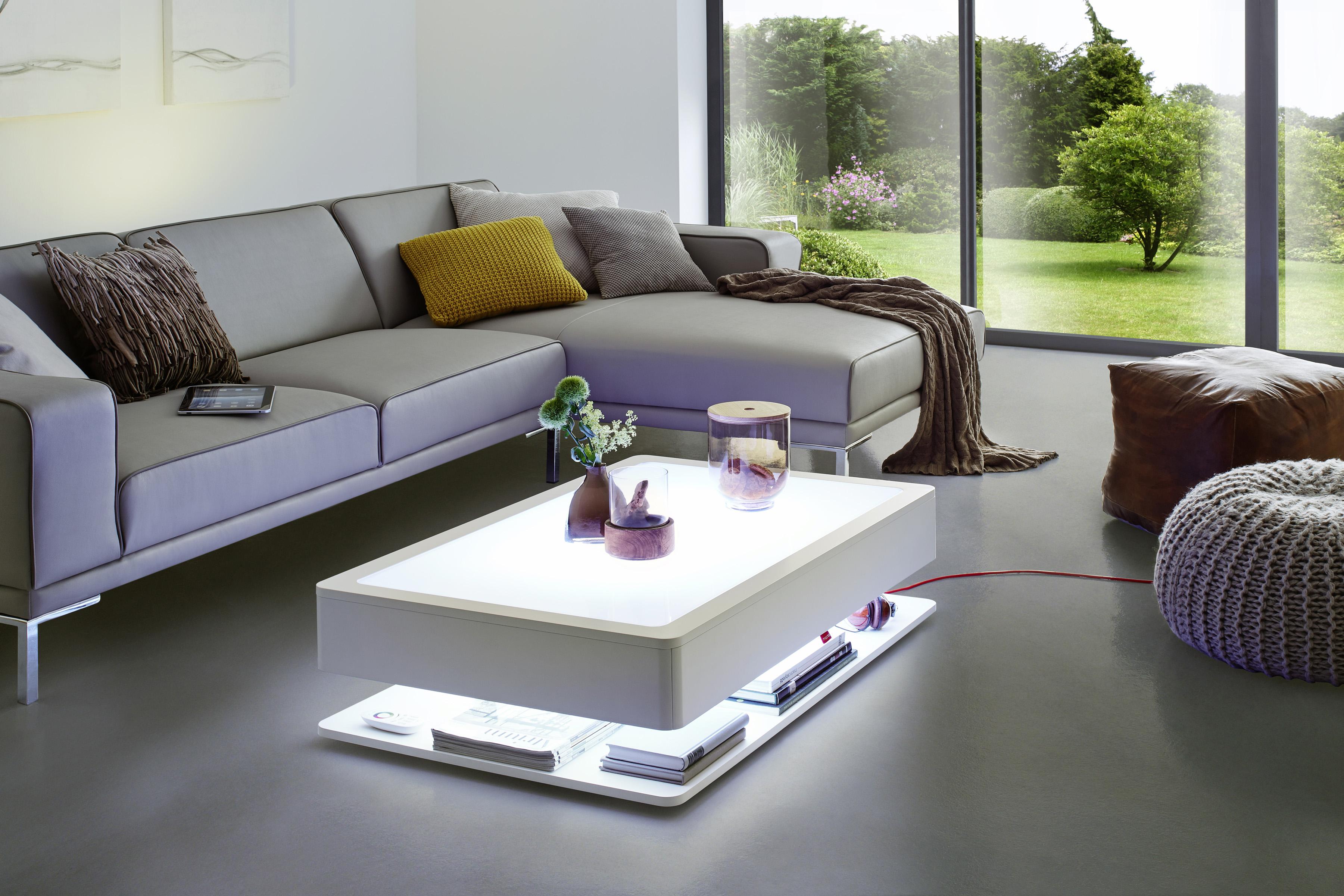 moree ora home couchtisch led beleuchtet mit stauraum. Black Bedroom Furniture Sets. Home Design Ideas