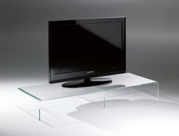 Hochwertiger Acryl-Glas TV-Tisch, TV-Rack, klar, Acryl-Glas-Stärke 8 mm