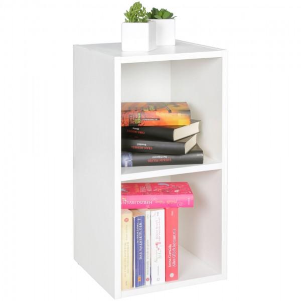 Modernes Standregal aus Holz, 30x60x30 cm, Wandregal, schmales Bücherregal