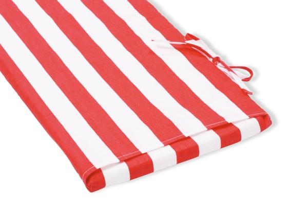 Pinolino Polsterauflage für Artikel 201016, rot / weiß, aus 100% Baumwolle, B 89 x T 19 x H 1,5 cm