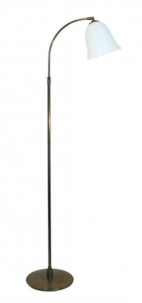 Stehleuchte / Standleuchte, klassischer Stil, Messing antik-handpatiniert (Altmessing), Höhe 130 cm bis 155 cm einstellbar, 230 V, E27 60 W