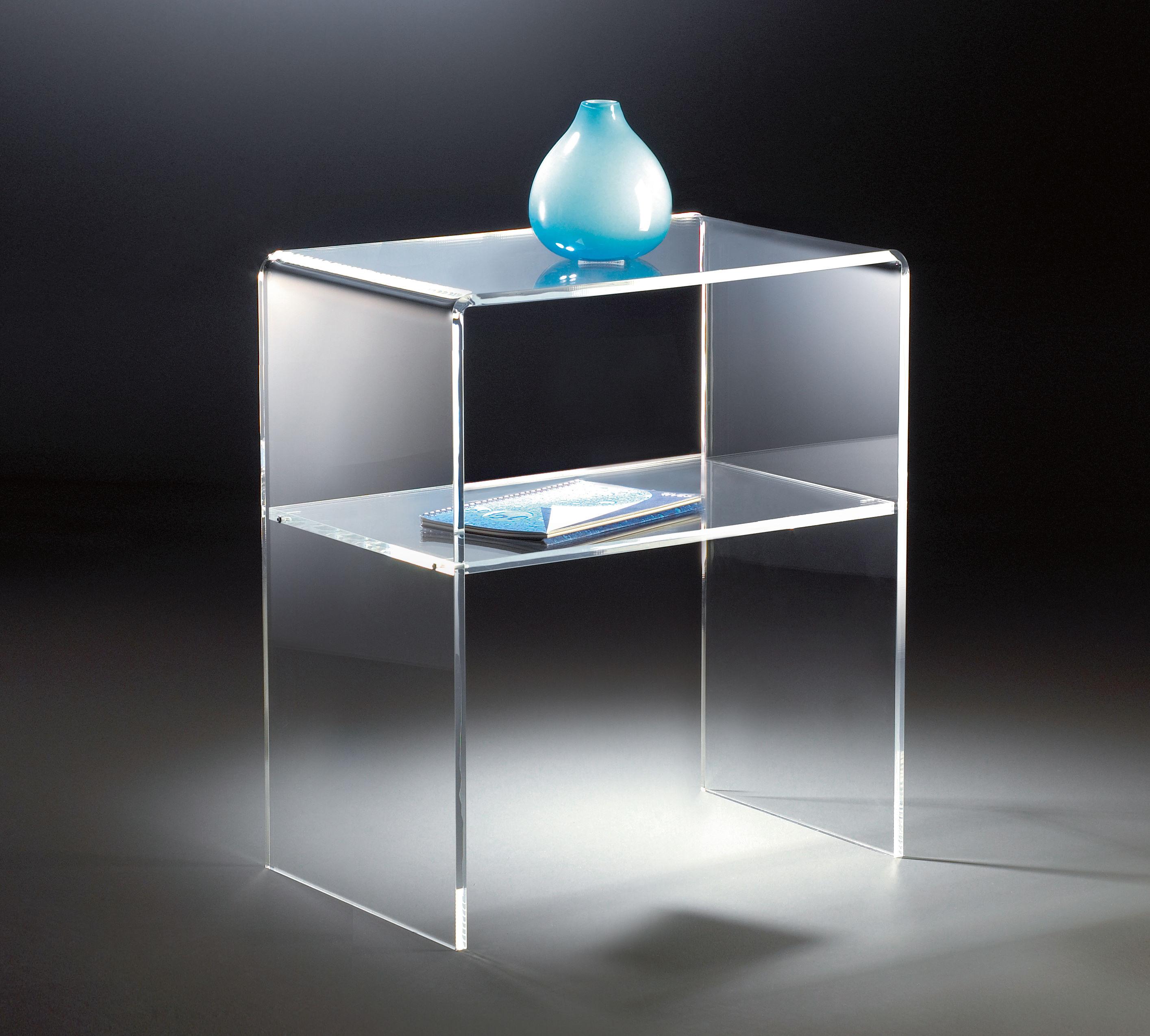 Hochwertiger acryl glas beistelltisch endtisch klar 50 for Beistelltisch acryl