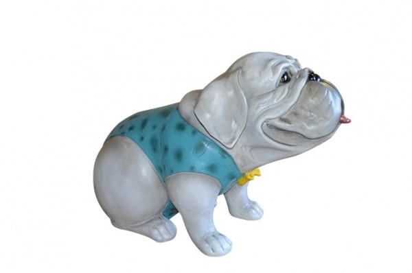 """XL-Figur / Deko-Tier / Figur, """"Bulldogge"""", aus hochwertigem Polyresin, B63 x H45 cm, für Innen"""