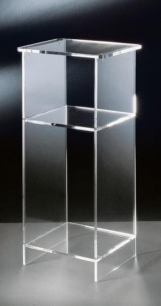 Hochwertiger Acryl-Glas Telefontisch, klar, 33 x 31 cm, H 73 cm, Acryl-Glas-Stärke 10 mm