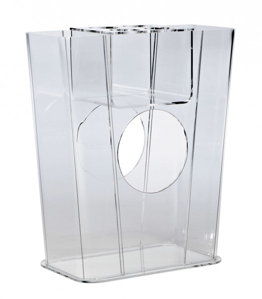 Hochwertiger Acryl-Glas Schirmständer, klar, 41 x 19 cm, H 50 cm, Acryl-Glas-Stärke 5 mm