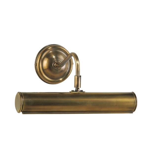 Bilderwandleuchte, Landhaus Stil, Messing antik-handpatiniert (Altmessing), Breite 28,5 cm, Wandabstand 19 cm, 230 V, 2 x E14 40 W