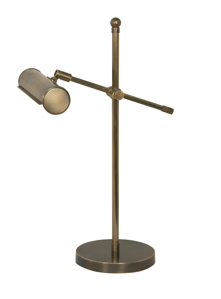 Klavierleuchte, Modern Stil, Messing antik-handpatiniert (Altmessing), Höhe 46 cm, Breite 19 cm, 230 V, E14 40 W
