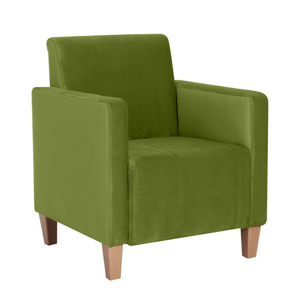 Sessel / Einzelsessel, samtiger Veloursstoff, stabiles Holzgrundgestell aus Massivholz, ( in 13 Farben), 70 x 80 x 76 cm