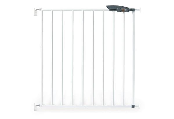Pinolino Tür- und Treppenschutzgitter , weiß, aus Metall, weiß pulverbeschichtet, B 69,5 cm bis 76,5 cm x H70 cm