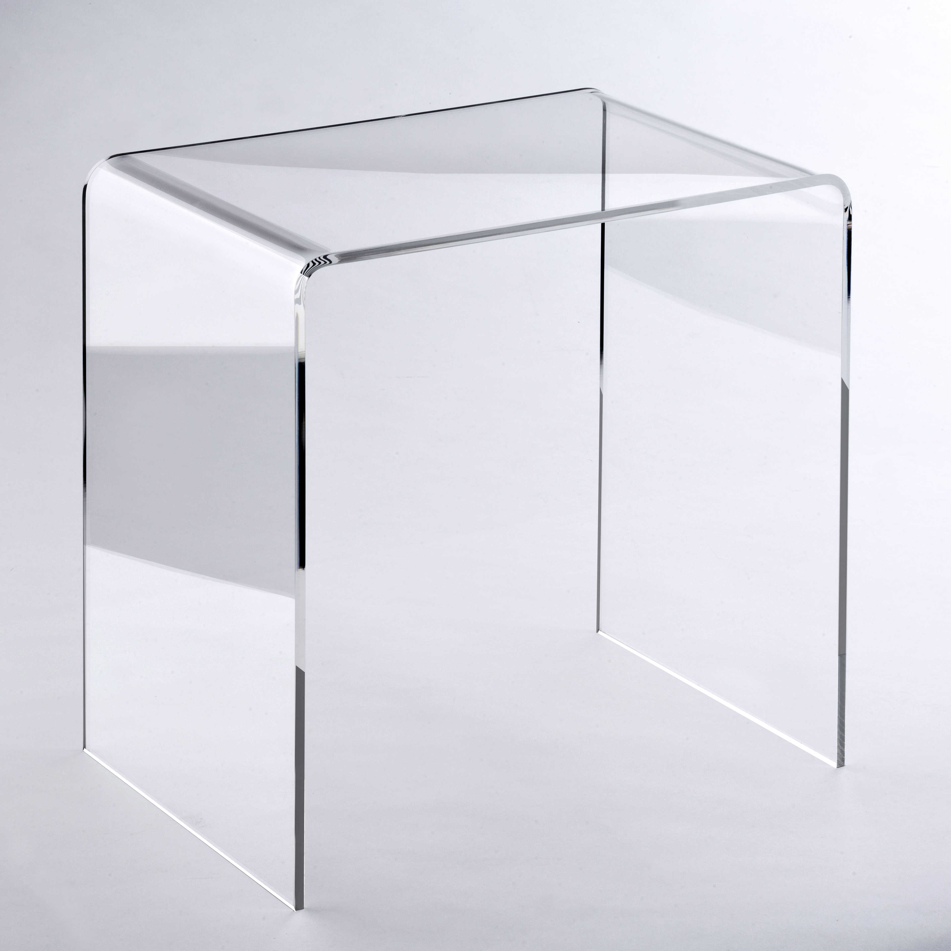 Zweisatztisch aus Acrylglas transparent Material Acryl klar