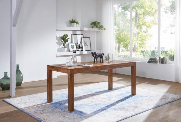 Esstisch Massivholz, dunkel braun, L120 cm, Sheesham, Esszimmer-Tisch , Design Küchentisch, Landhaus-Stil