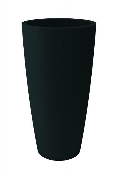 Blumentopf / Pflanztopf, Höhe 85 cm, Ø 38, anthrazit, matt, mit herausnehmbarem Pflanz-Einsatz, für Innen und Außen, aus hochwertigem Polyethylen-Copy