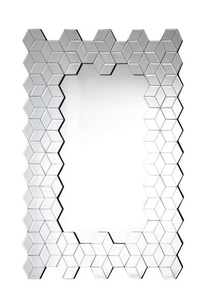 "Spiegel ""Cube"", 4 mm Glas, Rahmen aus Glas, Rückwand aus Holz, MDF, B80 x H120 x T1,5 cm"
