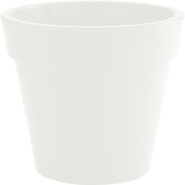 Blumentopf / Pflanztopf, Zeus, Ø 50, Höhe 43,5 cm, weiß, glänzend, 51 l Inhalt, für Innen und Außen, aus hochwertigem Polyethylen
