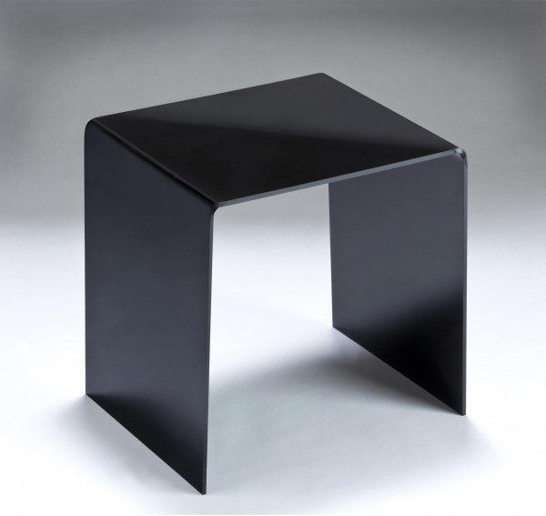 Hochwertiger Acryl-Glas Beistelltisch/Nachttisch, B44 x T29,5 cm, H 48 cm, Acryl-Glas-Stärke 8 mm