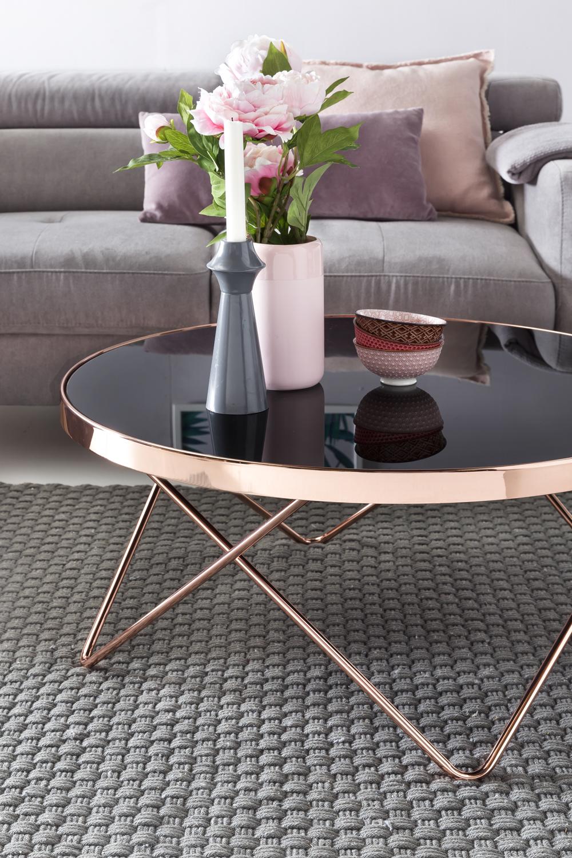 stilvoller couchtisch wohnzimmertisch rund. Black Bedroom Furniture Sets. Home Design Ideas