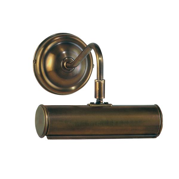 Bilderwandleuchte, Landhaus Stil, Messing antik-handpatiniert (Altmessing), Breite 19 cm, Wandabstand 19 cm, 230 V, E14 40 W