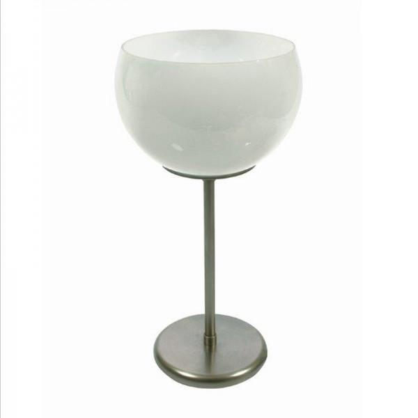 Tischleuchte / Simsleuchte, Messing matt vernickelt, Höhe 37 cm, 230 V, E27 60 W
