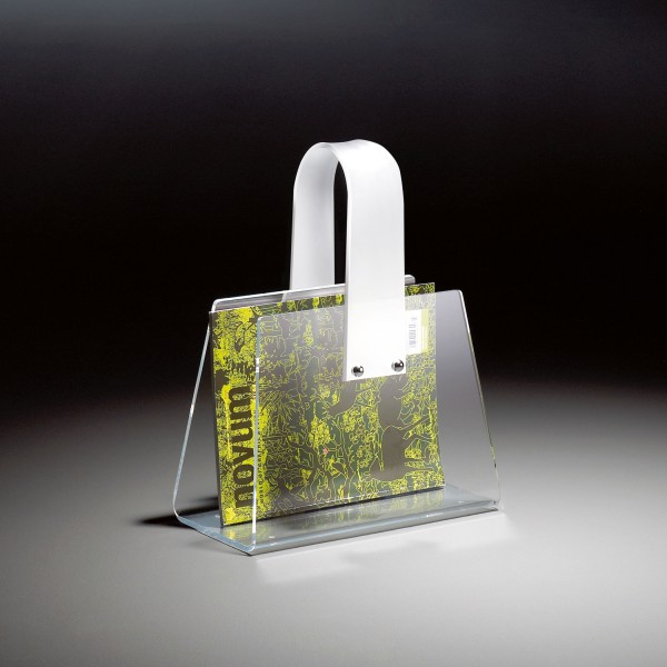 Hochwertiger Acryl-Glas Zeitungsständer, Zeitschriftenständer, 33 x 16 cm, H 43 cm, Acryl-Glas-Stärke 4 mm