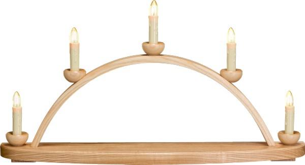 Leuchterbogen / Leerbogen / Kerzenhalter, aus Holz, natur, Breite 50 cm