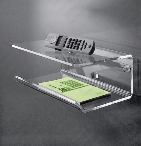 Hochwertiges Acryl-Glas Telefonbord / Wandboard, klar, 35 x 28 cm, H 15 cm, Acryl-Glas-Stärke 8 mm