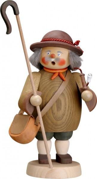 """Räucherfigur / Räuchermännchen """"Schäfer"""", aus Holz, braun, Höhe 19 cm"""