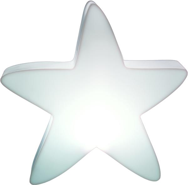 LUMENIO Stern, LED beleuchtet Maxi Design, 70 x 72 x 15 cm, weißer ...