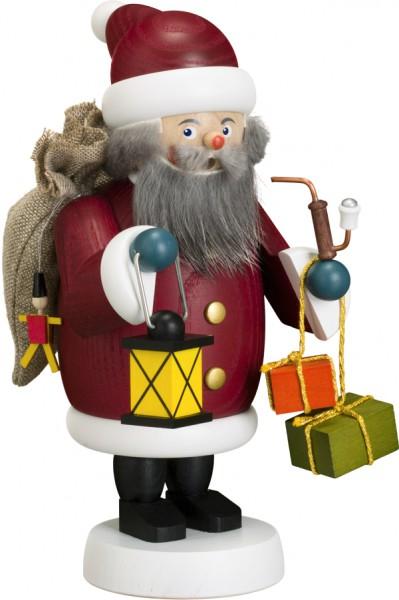 """Räucherfigur / Räuchermännchen """"Weihnachtsmann"""", aus Holz, dunkelrot, Höhe 19 cm"""