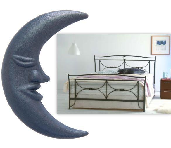 designer metallbett tristana aus handgeschmiedetem eisen pulverbeschichtet bettgestell inkl. Black Bedroom Furniture Sets. Home Design Ideas