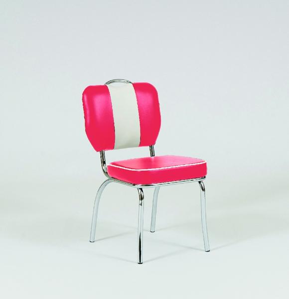 bistrostuhl louisiana 4 teiliges set retro 50er jahre gestell stahlrohr verchromt bezug. Black Bedroom Furniture Sets. Home Design Ideas