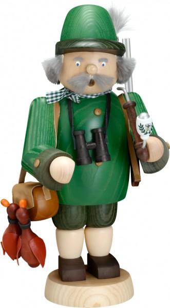"""Räucherfigur / Räuchermännchen """"Jäger"""", aus Holz, grün, Höhe 30 cm"""