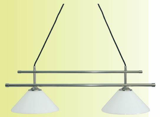 Deckenleuchte, Modern Stil, Messing matt vernickelt, Breite 77 cm, Höhe inkl. Glas ca. 21 cm, 230 V, E27 60 W