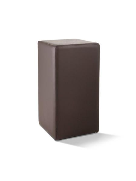 Pomp Tresenhocker, echtes Leder, braun, B = 33 cm, T = 33 cm, H = 65 cm, mit komfortabler Polsterung