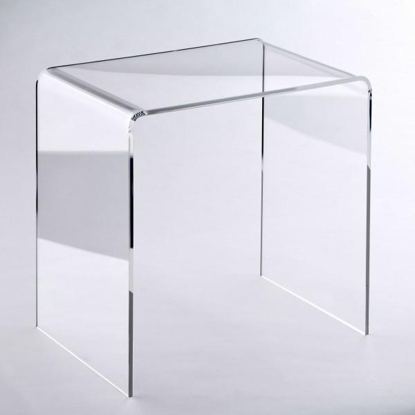 Hochwertiger Acryl-Glas Beistelltisch/Nachttisch, B44 x T29,5 cm, H 42,5 cm, Acryl-Glas-Stärke 8 mm