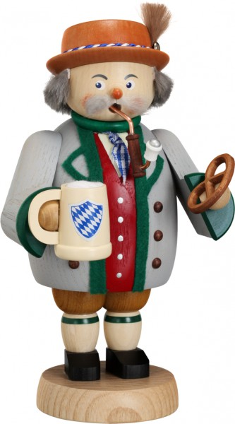 "Räucherfigur / Räuchermännchen ""Bayer"", aus Holz, bunt, Höhe 19 cm"