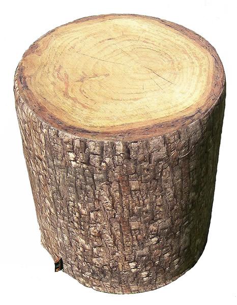 MeroWings Tree Seat Sitzkissen, Ø 40 cm, Höhe 45 cm, mit originalgetreuem Fotodruck, für den Innenbereich