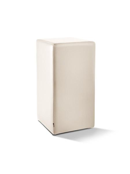 Pomp Tresenhocker, echtes Leder, cremeweiß, B = 33 cm, T = 33 cm, H = 65 cm, mit komfortabler Polsterung