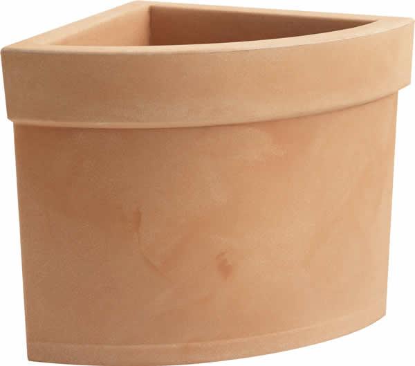 Blumentopf / Pflanztopf, Themis Viertelkreis, 40 x 40 x 40 cm, matt, 38 l Inhalt, für Innen und Außen, aus hochwertigem Polyethylen, (in 4 Farben)