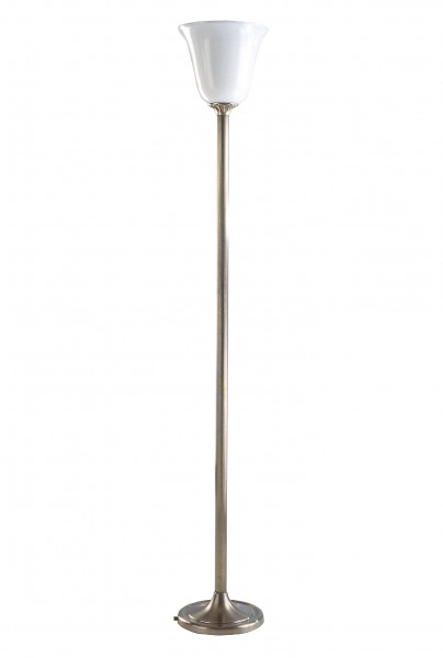 Stehleuchte / Standleuchte, Art déco Stil, Messing antik-handpatiniert (Altmessing), Höhe 153 cm, 230 V, E27 60 W
