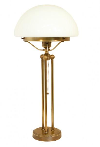 Tischleuchte / Pilzleuchte, Bauhaus Stil, Messing antik-handpatiniert (Altmessing), Höhe 40 cm, 230 V, E27 60 W