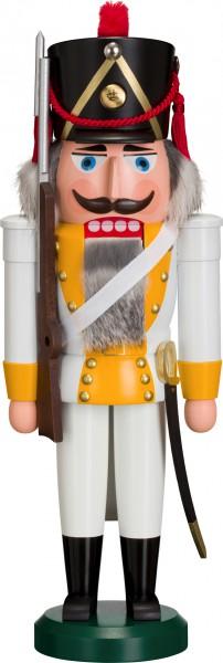 """Nussknacker """"Grenadier"""", aus Holz, weiß/orange, Höhe 39 cm"""