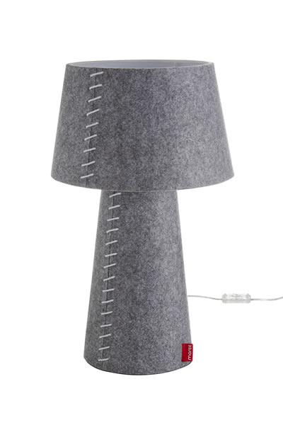 """Moree Tischlampe / Schreibtischlampe """"Alice"""", aus Filz (PE), Lampenschirm schwenkbar, Ø 30 cm x H 50 cm, 230 V, 12 W, für den Innenbereich"""