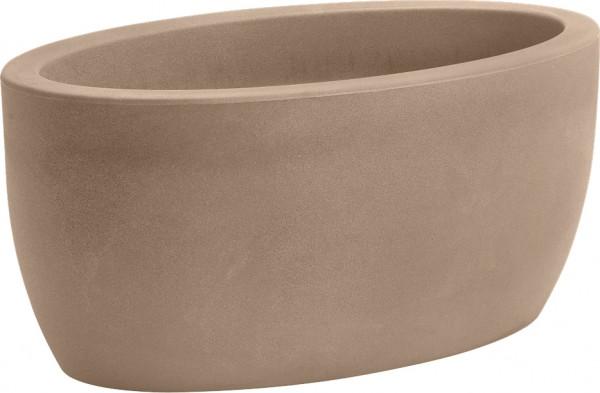 Blumentopf / Pflanztopf, B50 x T29 x H23, 22 l Inhalt, oval, für Innen und Außen, aus hochwertigem Polyethylen, matt