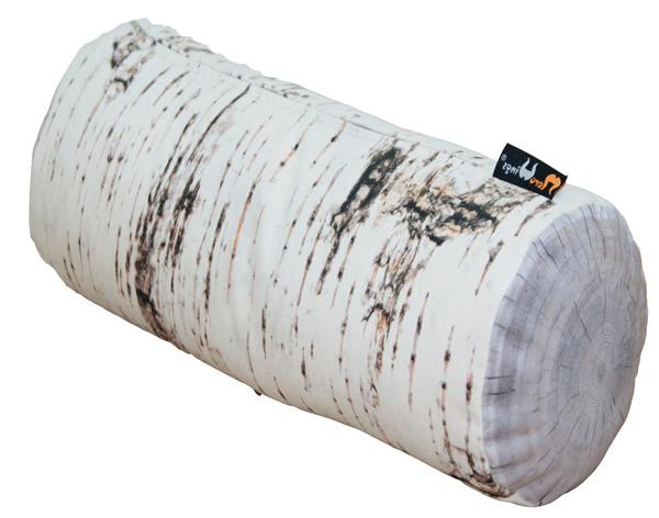 MeroWings Forest Trunk Sitzsack, Ø 60 cm, Länge 120 cm, mit originalgetreuem Fotodruck Birke, für den Innenbereich